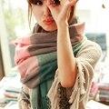 190*60 СМ Мода Шерсти Зимой Шарф Женщин Бандана Плед Толщиной Cachecol Марка Платки и Шарфы для Женщин