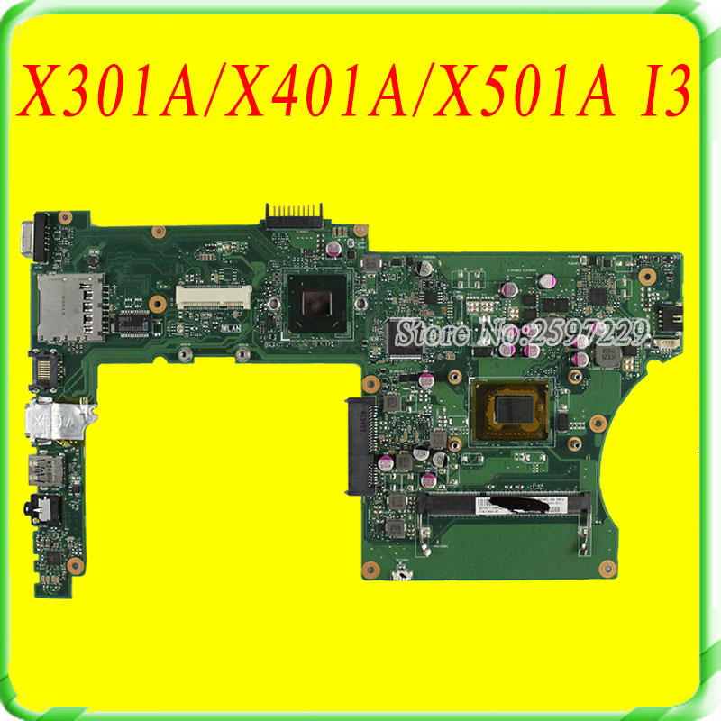 все цены на  For Asus Motherboard X501A X301A  X401A REV2.0 Maibboard With i3 Processor HM76 tested Ok  онлайн