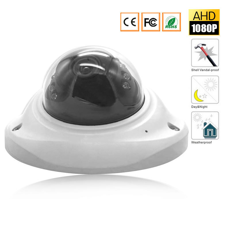 Mini AHD Camera 1080P Dome Waterproof  Video Surveillance Camera IR Night Vision 30M Metal Case Outdoor Waterproof CCTV Camera 4 in 1 ir high speed dome camera ahd tvi cvi cvbs 1080p output ir night vision 150m ptz dome camera with wiper