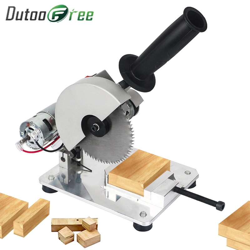 Dutoofree DIY Drill Micro Cutting Machine Small Aluminum Alloy Table Electric Saw Cutting Aluminum Machine Stainless