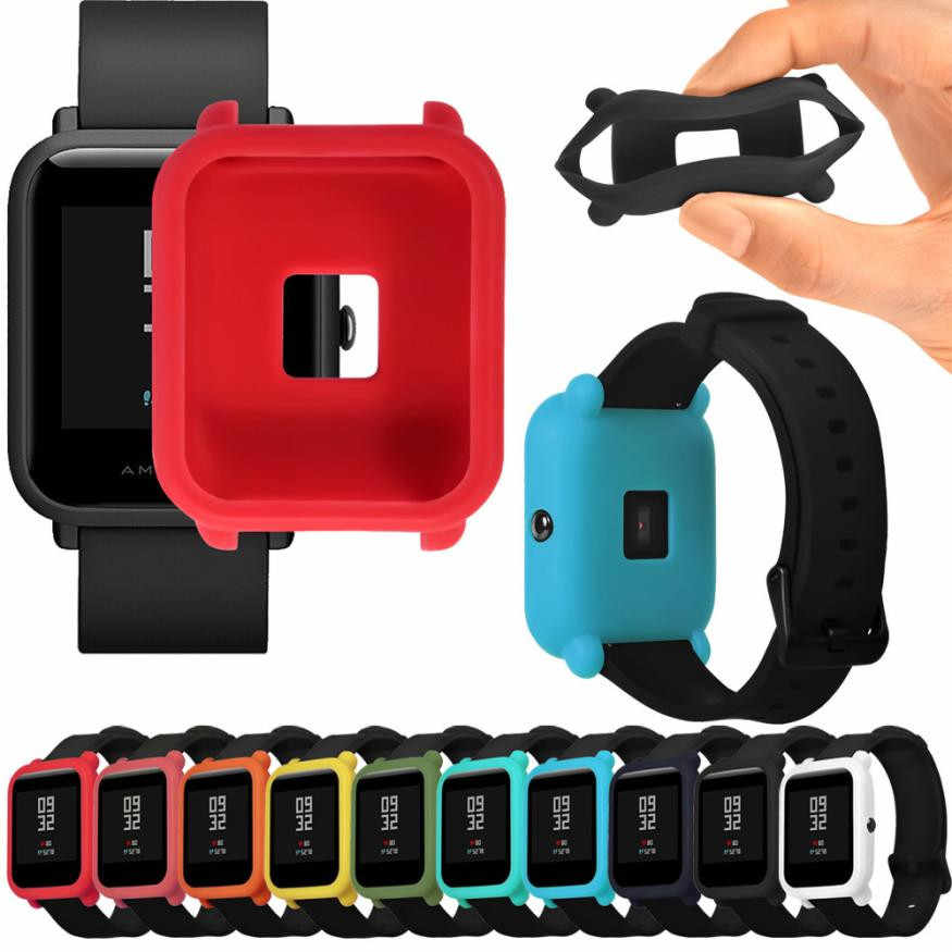 Soft TPU Protection Silicone Full Case Cover For Huami /Amazfit /Bip /Youth Watch wearable devices fitness bracelet relogio