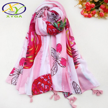 Fashion Animal Pattern Pashmina Mujer With Bright Color Soft Cotton Scarf Women For Holiday Travel Beach Bikini Covers Scarf цена