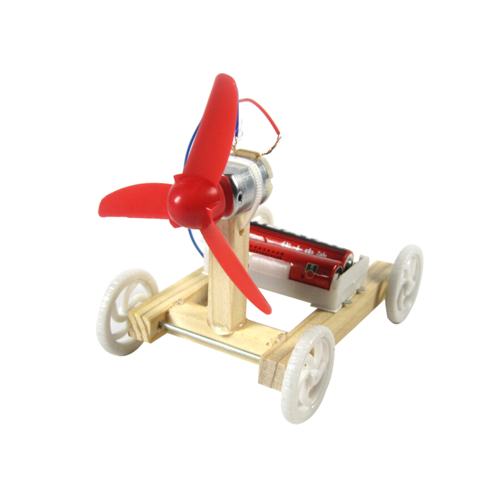 DIY Single-wing Wind Car Assembly Model Kit Developmental Toys Science Experiment Educational Toys Gift For Children HOT