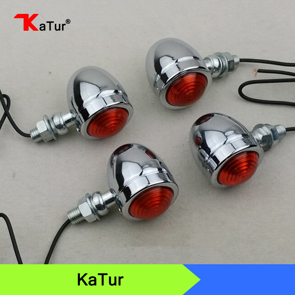 aliexpress : buy 4pcs/set sivler/black motorcycle turn signal