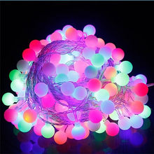 10M 100 Led Christmas Tree Garland String Xmas Outdoor Ball Curtain Navidad Curtain Fairy Holiday Lights AC220V/110V(China)