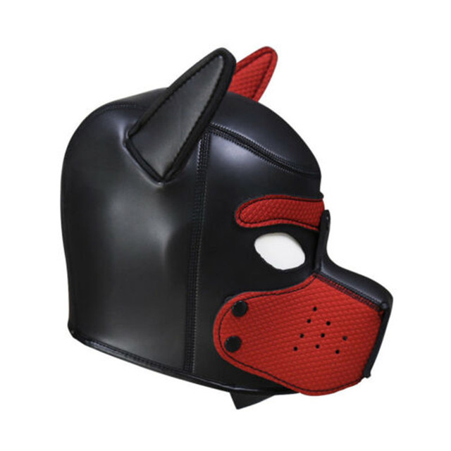 Brand New Latex Role Play Dog Mask Cosplay Full Head Mask with Ears Padded Rubber Puppy Cosplay Party Mask 10 Colors Mujer 3
