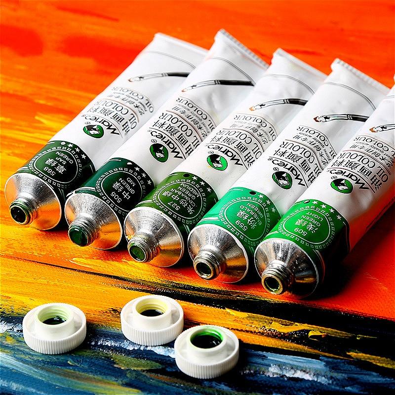 Maries 10PCS/set oil paint 50M aluminum tube art supplies painting frame creation special pigment dye