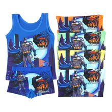 Summer Nightwear Boys Cartoon Vest Boxers Baby Clothes Girls 3-8t Children