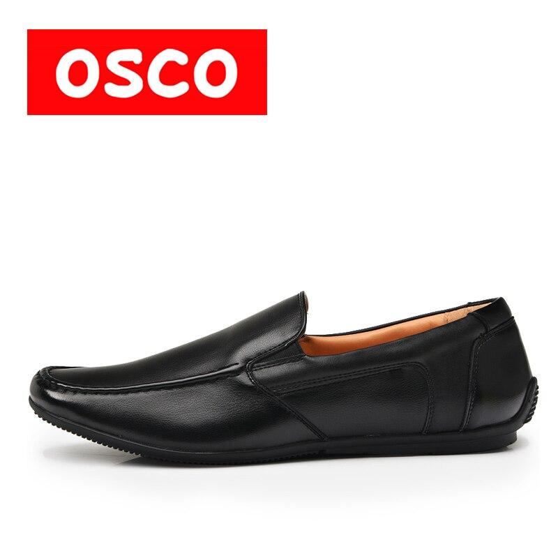 OSCO ALL SEASON New Men Shoes Fashion Men Casual Shoes loafers and driver shoes #RU0026 пена монтажная mastertex all season 750 pro всесезонная