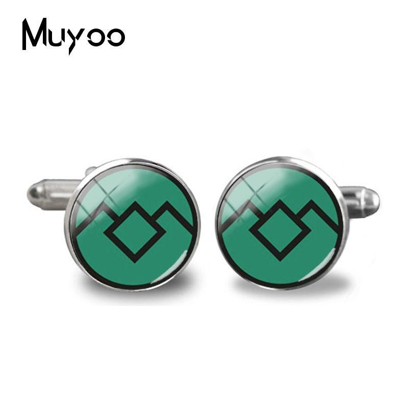2018 New Arrival David Lynch movie Jewelry Glass Cufflink Twin Peaks Glass Dome Shirt Accessory Jewelry Cufflinks For Mens Gifts image
