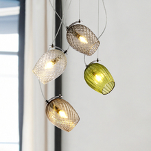 JAXLONG Modern Retro Glass Pendant Lamp Nordic Simple Home Decor Fixture Living Room Bedroom LED Lights Loft Lighting