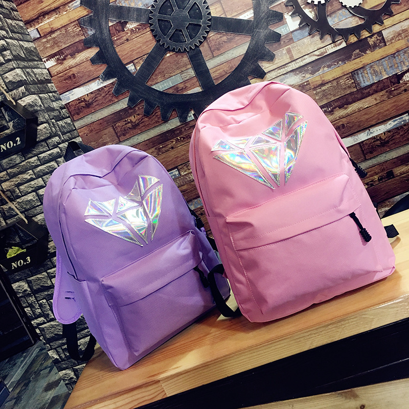 New Arrival Exo Laser Backpack Korean Canvas Backpack Teenage Girls Fashion Exo Bags Harajuku Backpack Rucksacks For School Backpacks Luggage & Bags
