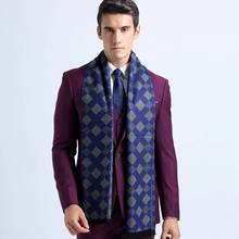 Winter Cotton Scarf Men Rhombus Business Scarves England Style Tartan Echarpes Foulards YJWD354