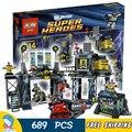 689 шт. SY513 Новый Капитан Америка Железный Человек Batcave Блок Набор Зимний Солдат DIY Строительные Блоки Игрушки Совместимые с Lego