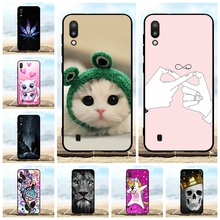 For Samsung Galaxy M10 Case Soft TPU Silicone M105F Cover Cartoon Patterned Shell