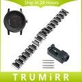 20mm de cerámica y acero correa de acero para garmin vivomove samrt venda de reloj butterfly pulsera hebilla + nuevo enlace remover + Pins