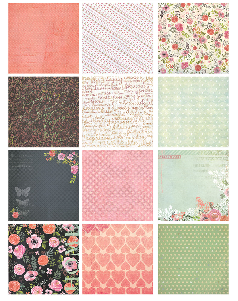 How to make scrapbook paper designs - New 6 Home Flowers Sweet Heart Handmade Background Paper Pads Patterns 26sheets Diy Scrapbooking Paper Pack Paper Craft