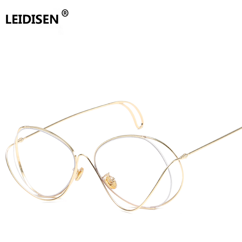 0afaa2393ba Detail Feedback Questions about LEIDISEN Hollow Out Double Rims Vintage  Mens Eyeglasses Frame Women Brand High Quality Metal Optical Glasses  Computer Work ...