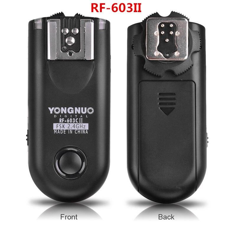 Ulanzi YONGNUO RF-603 II 2.4 ghz Radio Synchronisation Sans Fil Déclencheur Flash Navette Libération Télécommande pour Canon Nikon Pentax