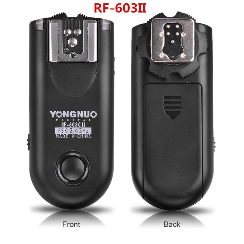 Ulanzi YONGNUO RF 603 II 2.4GHz Radio Wireless Sync Flash Trigger Shuttle Release Remote Control for Canon Nikon Pentax