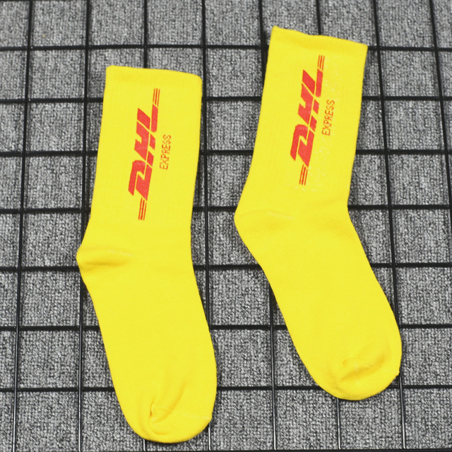 Socks women's stockings men's tide street tide brand socks in the tube college wind letter cotton dhl skateboard socks