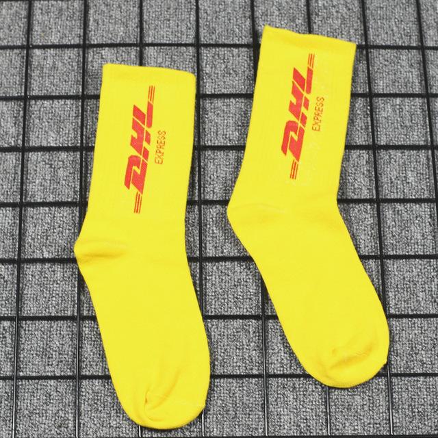 Socks women's stockings men's tide street tide brand socks in the tube college wind letter cotton dhl skateboard socks