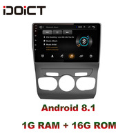IDOICT Android 8.1 Car DVD Player GPS Navigation Multimedia For Citroen C4 Radio 2013 2016 car stereo