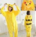 Pokemon Pikachu Cosplay Moletom Com Capuz Animais Pijamas Pijamas Adulto Unisex Amarelo Pikachu Onesie Traje Cosplay Pikachu Pijama