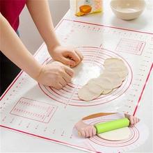 60*40CM Non-Stick Silicone Baking Mat Kneading Pad Sheet Glass Fiber Rolling Dough Large Size for Cake Macaron Kitchen Tools