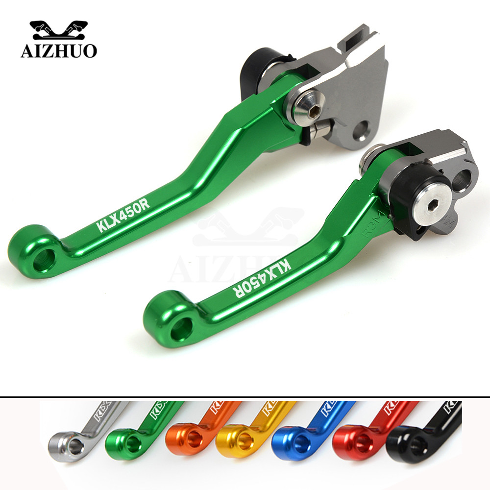 CNC Motocross dirt bike Pivot Brake Clutch Levers for KAWASAKI KLX450R KLX 450R KLX 450 R 2008-2009