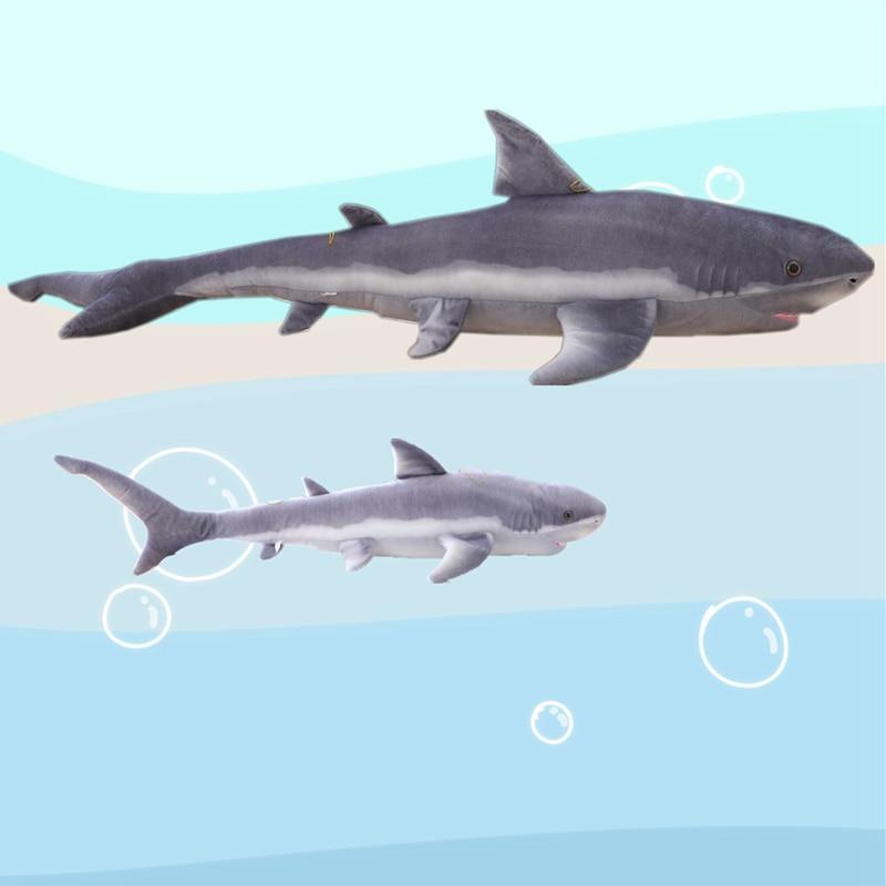 100/140cm New Style Simulation Grey Shark Plush Toys Big Fish Cloth Doll Shark Stuffed Plush Animals Doll Children Birthday Gift