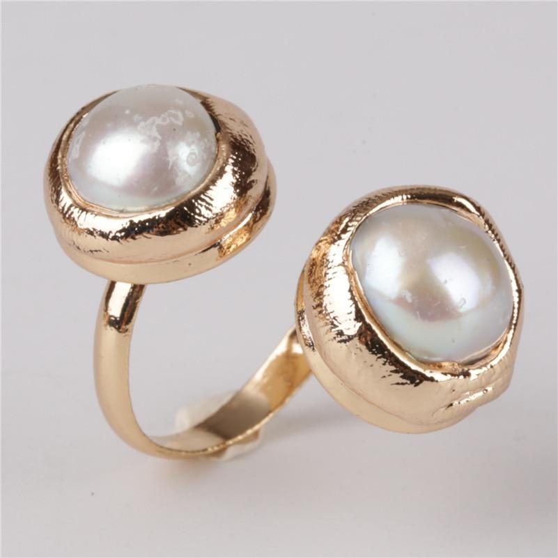 gold ring Earrings copper beads