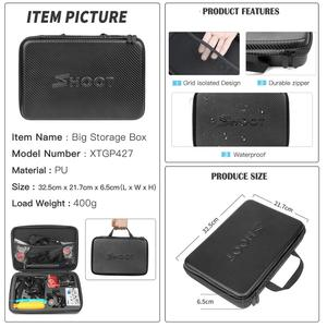Image 5 - SHOOT Universal Action Camera Accessory for GoPro Hero 8 7 6 5 Black Xiaomi Yi 4K Sjcam M10 Eken H9r Go Pro Hero 8 7 Accessories