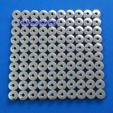 Bobinas metálicas para máquinas de bordar, tamaño L, BARUDAN TAJIMA TOYOTA, 100