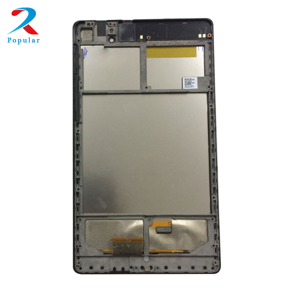 for ASUS Google Nexus 7 2nd ME570 ME571 Gen 2013 Wifi Touch Screen Digitizer Sensor + LCD Display Panel Monitor Assembly + Frame lcd display screen touch screen digitizer glass assembly with frame for google nexus 7 fhd 2nd 2013 asus me571kl me571