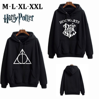 Harri Potter Deathly Hallows Pullover Men's Sweatshirts Hogwarts Black Casual Hoodies Polyester Jacket Coat Tops Clothing