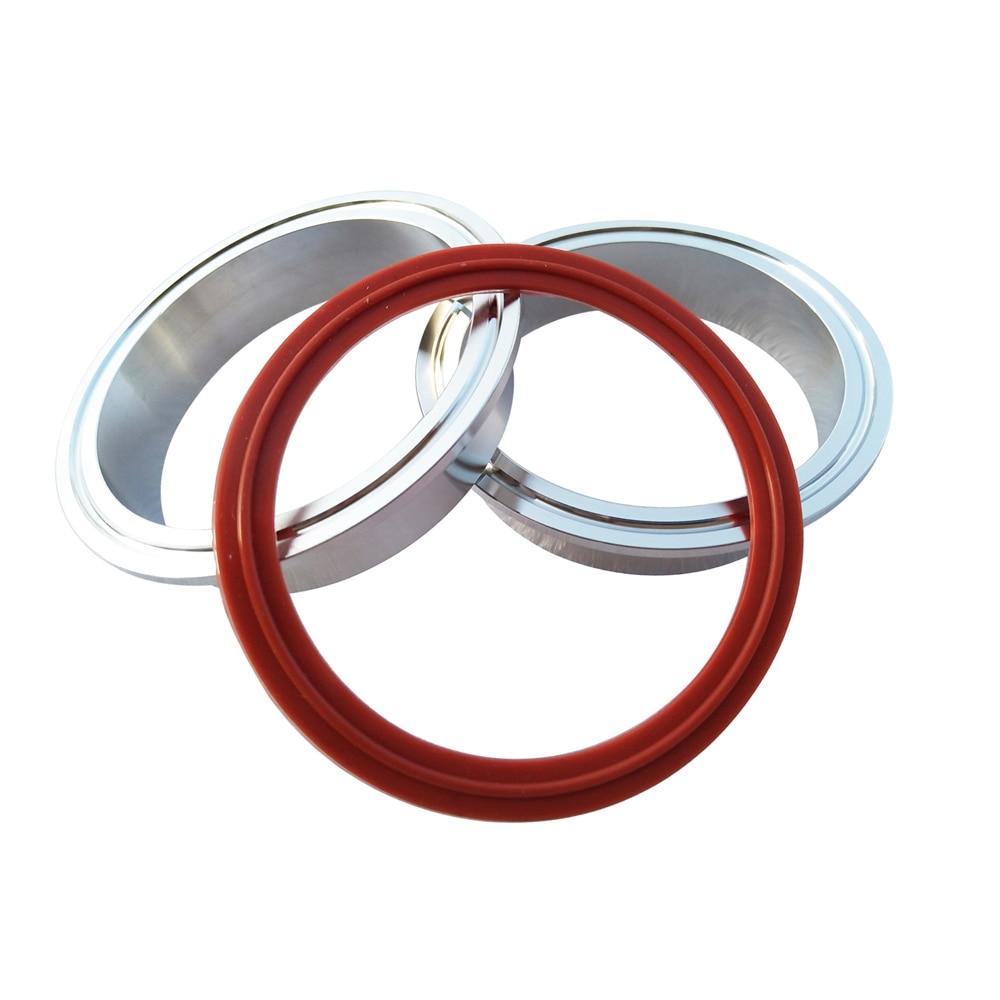 1,5-4,0 Zoll Aluminiumflansch Autoauspuffrohr v Bandklemme O-Ring-Dichtung Legierung VBand Nur Flansch Flansch