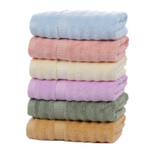 34x75cm Solid Color Plain Wavy Bamboo Fiber Towel Thicken Soft Washcloth Hand Towel For Men Women towel bamboo true navy production of ecotex russian companies