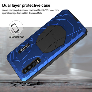 Image 4 - For Huawei P30 P30 Pro Phone Case Hard Aluminum Metal Tempered Glass Screen Protector Cover for Huawei P30 Lite Full cover