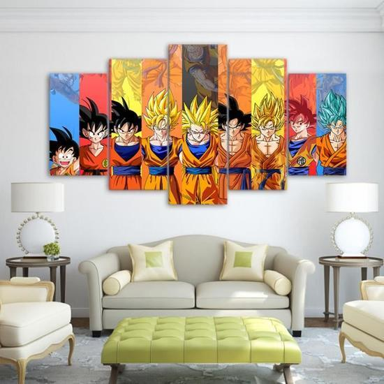 5 Piece Dragon Ball Z Decorative Canvas Painting