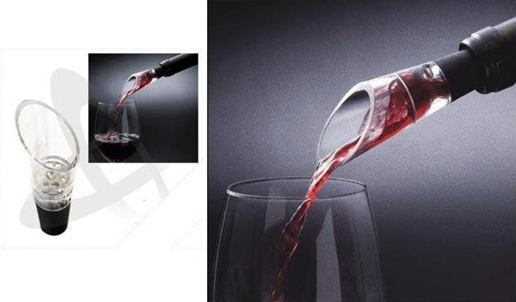 2pcs New Cocktail wine torneira aerator brand safe non-toxic Plastic Wine Aerator Pour Spout Decanter Total Length 3.75in