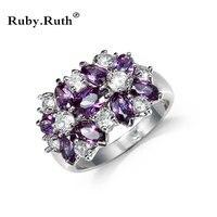 Кольцо Для женщин Многоцветный кубического циркония свадьбы оптовая продажа 4 шт. Кольца