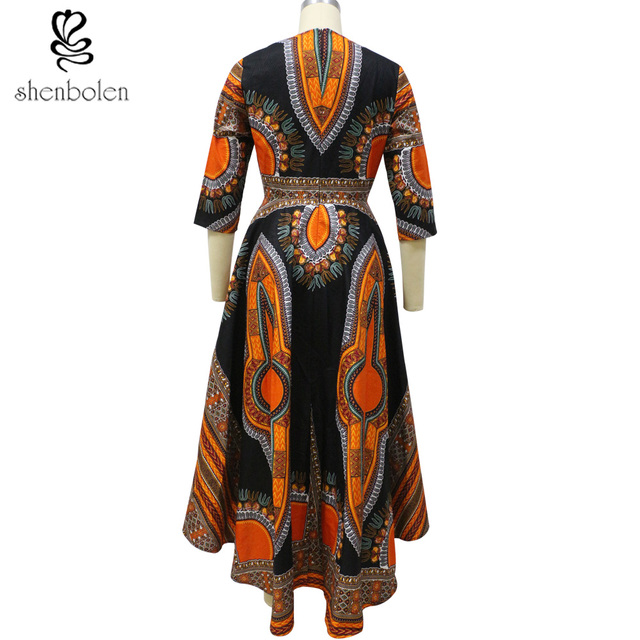 shenbolen 2018 African Fashion dresses for women African dashiki batik prints men's tops lady Couples Clothes for women and men 3