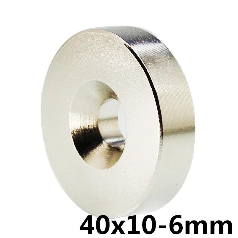 1pcs 40mm x 10mm Hole 6mm N35 Super Neodymium Round Ring Permanent Magnet 40*10-6 search magnet 40x10-6mm1pcs 40mm x 10mm Hole 6mm N35 Super Neodymium Round Ring Permanent Magnet 40*10-6 search magnet 40x10-6mm