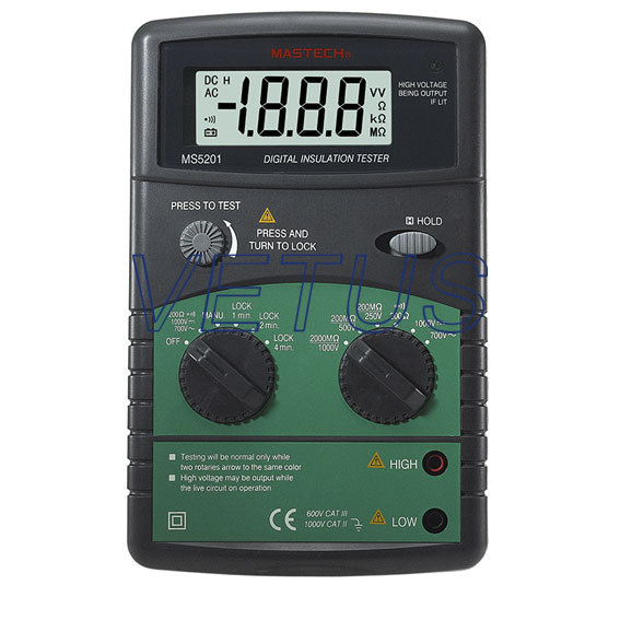 MS5201 digital 1000V high voltage insulation tester 2017 high quality taiwan bao gong 1pk 816n pro skit high voltage insulation 1000v electrical set tool group free shipping