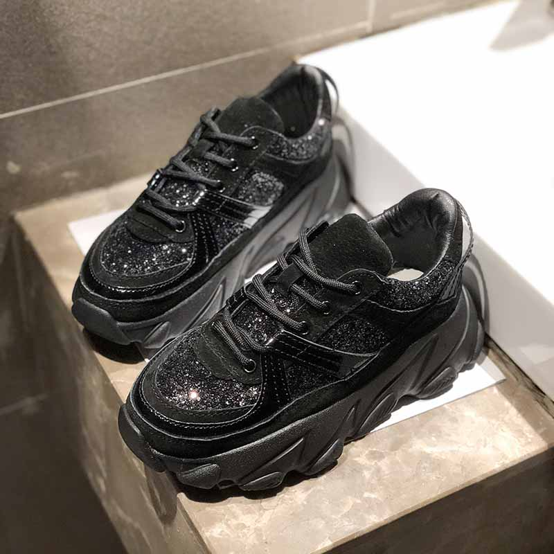 Chunky Sneakers For Women Thick Wedges Sequins Shoes Casual Platform Sport Shoes Dad Inspired Flatform Fashion Sneaker GlitterChunky Sneakers For Women Thick Wedges Sequins Shoes Casual Platform Sport Shoes Dad Inspired Flatform Fashion Sneaker Glitter