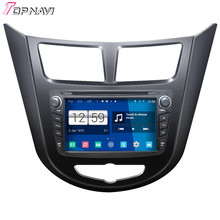 Top Newest  Quad Core S160 Android 4.4 Car DVD Video For Verna/Solyaris With16GB Flash Mirror Link BT Wifi GPS