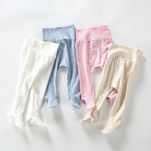 Spodnie dla niemowląt bawełniane legginsy dla niemowląt baby boy girl footies spodnie dla dzieci odzież dla dzieci letnie ubrania dla dzieci wysokie spodnie dla dzieci tanie tanio Bloom Baby Stałe REGULAR YB733-X18030 Pełnej długości Unisex spandex COTTON Moda Pasuje prawda na wymiar weź swój normalny rozmiar