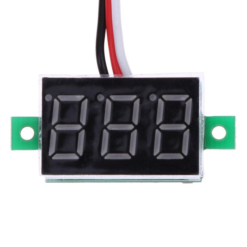 DC 0-100V Car Voltmeter Portable Digital Voltmeter Light Red LED Panel Car Voltage Meter Car Accessories Digital Voltmeter