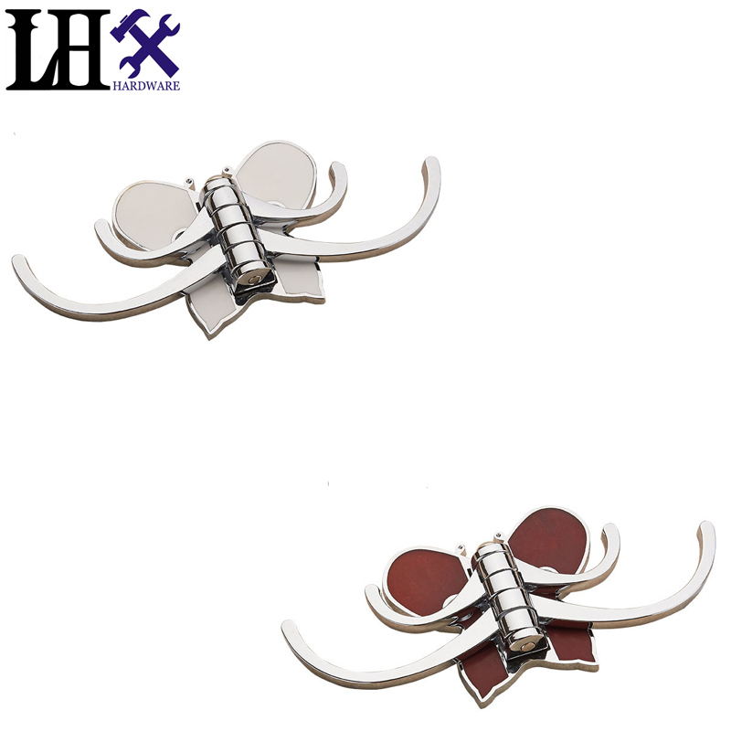 LHX B 2016 New Wall Hooks For Clothes Hangers Wall Hook Robe Hook For Bathroom Accessory  Butterfly Four Hanger Home Decor fixmee 50pcs white plastic invisible wall mount photo picture frame nail hook hanger